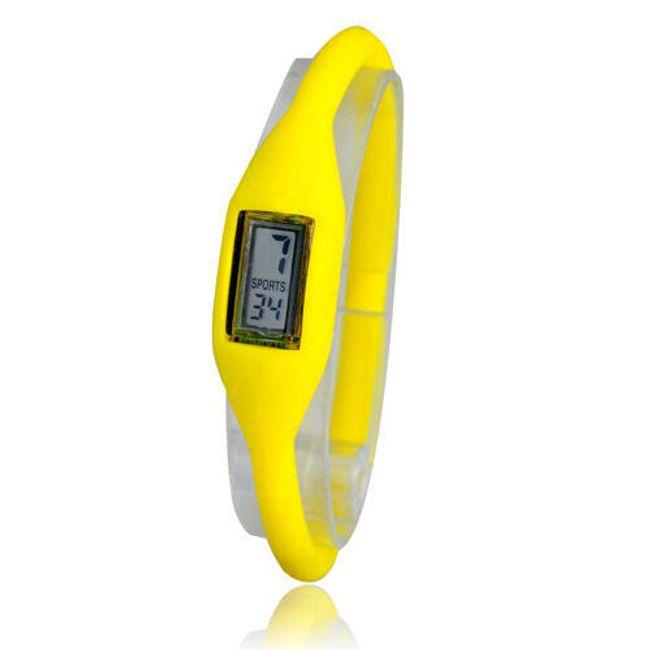 Digitální silikonové hodinky ION - Žluté 1