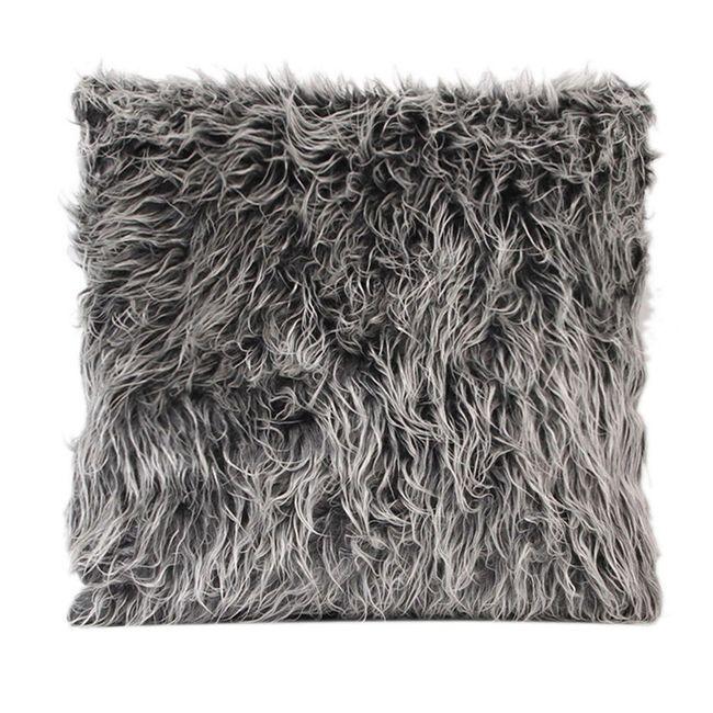 Chlupatý povlak na polštář - 4 barvy 1