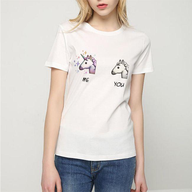 Dámské tričko s potiskem - 2 barvy 1
