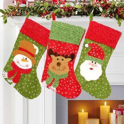 Vánoční punčocha ve třech motivech