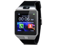 Chytré hodinky s Bluetooth - černé