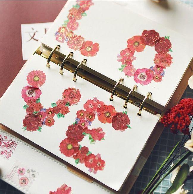 Dekorativní štítky - květiny 1