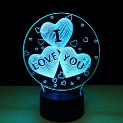 3D LED lampa NB18
