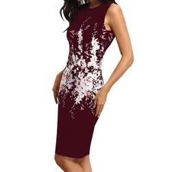 Dámské šaty bez rukávů s květinovým vzorem - 2 barvy