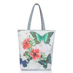 Plátěná taška přes rameno se super vzory - 4 varianty