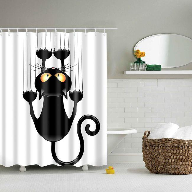 Sprchový závěs s roztomilým potiskem - 180 x 180 cm 1