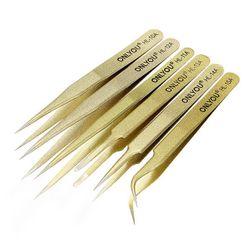 Sada antistatických pinzet ve zlaté barvě - 6 ks