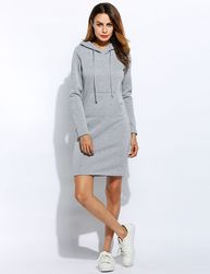 Dlouhé mikinové šaty - různé barvy
