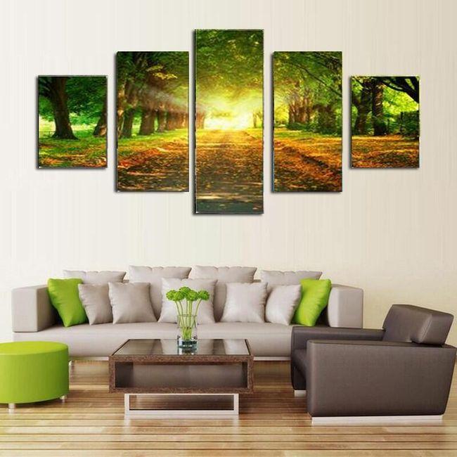 Sada obrazů se slunečnou krajinou - 5 kusů 1