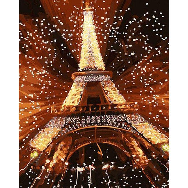 DIY obraz k vybarvení - Eiffelova věž 1