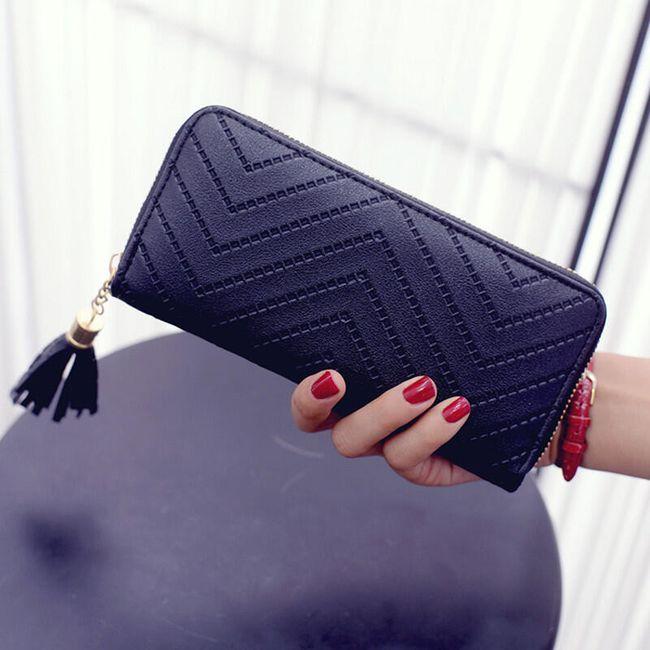 Dámská peněženka polodlouhá - střapec 1