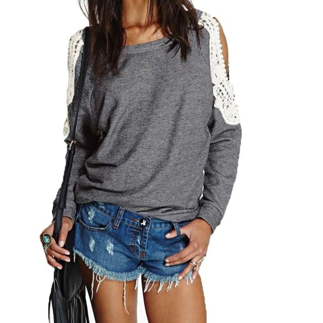 Dámské tričko s odhalenými rameny - 3 barvy 1