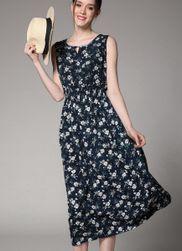 Lehké květinové midi šaty