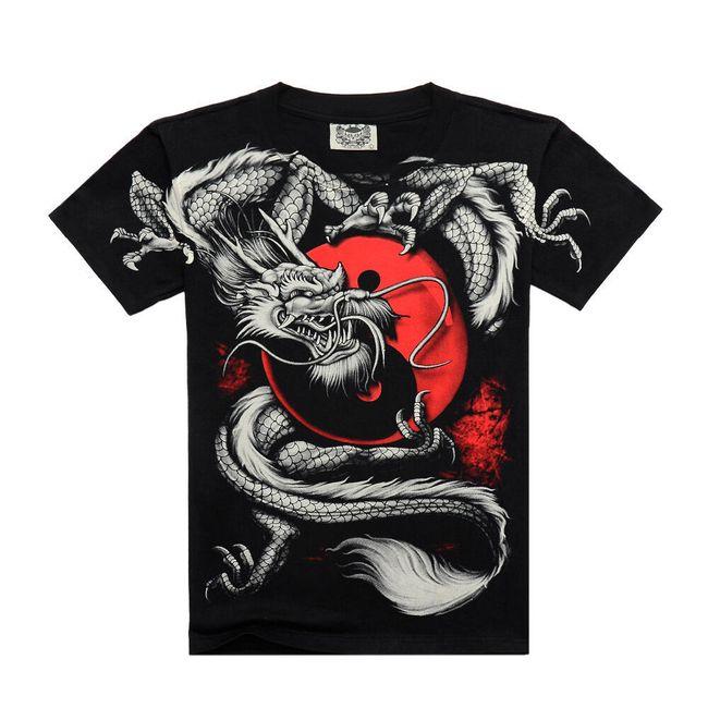 Pánské tričko - barevný potisk 1