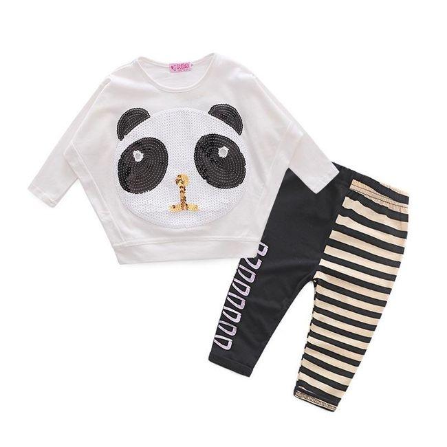 Tepláková souprava pro malé holčičky - Panda 1