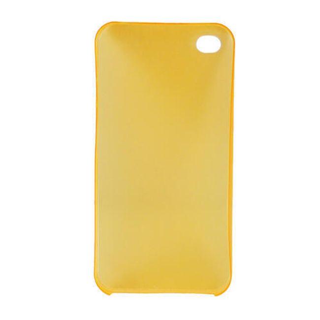 Plastový ochranný kryt na iPhone 4 a 4S - oranžový ultratenký průsvitný 0.3 mm 1