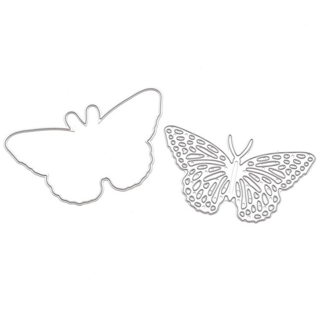 Set dvou kovových šablon na kreativní tvoření - Motýl 1