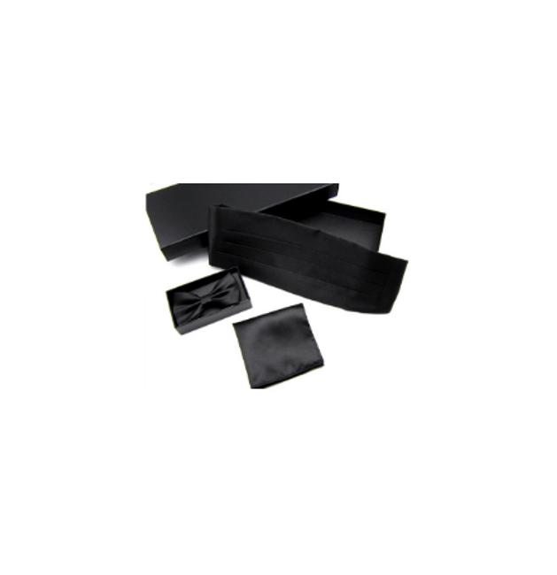 Doplňky k obleku - pásek, motýlek a kapesníček 1