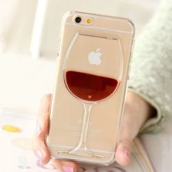 Kryt na iPhone se sklenicí vína