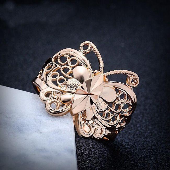 Prsten s motýlem velikosti 8 1