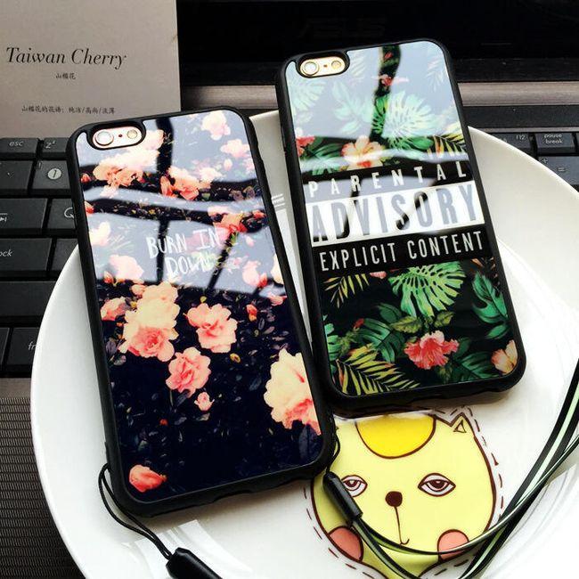 Zadní kryt pro iPhone 7 - vzory květin 1