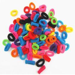 Sada 100 kusů holčičích gumiček do vlasů