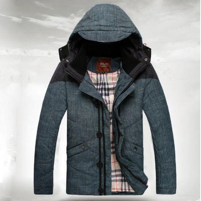 Pánská zimní bunda s kapucí 1