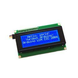 LCD displej s modrým podsvícením pro Arduino - 20 znaků, 4 řádky