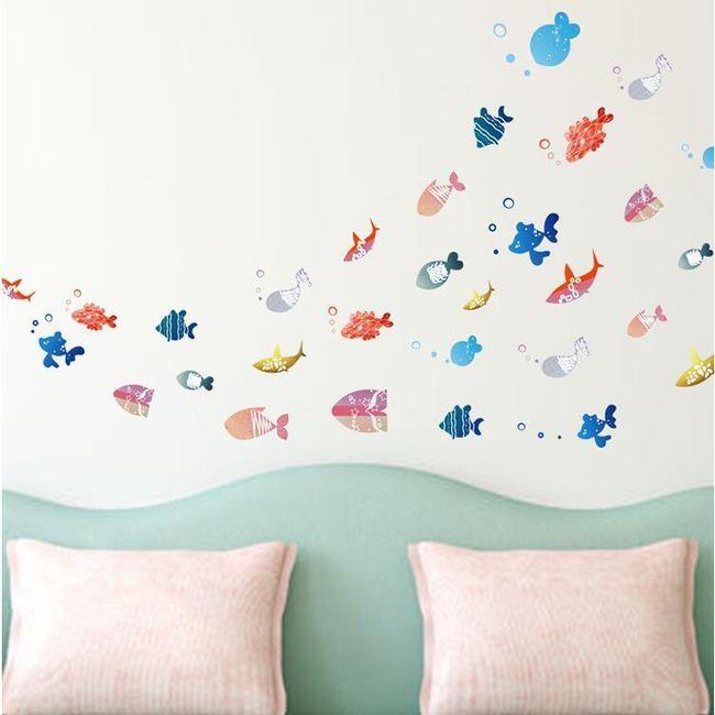 Samolepka na zeď - rybičky 1