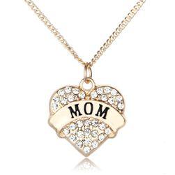 Srdíčko s kamínky - náhrdelník pro maminku