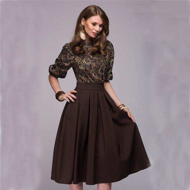 Dámské elegantní šaty Floral - 2 barvy 1