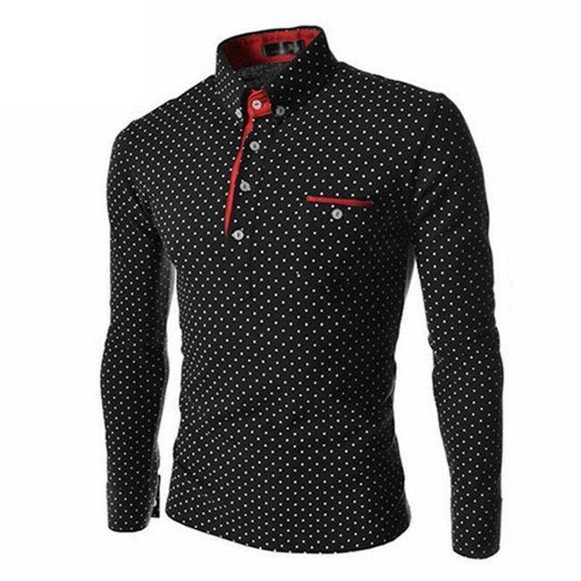 Pánská košile s puntíky - 3 barvy 1
