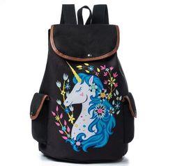 Dámský batoh s jednorožcem - 3 varianty