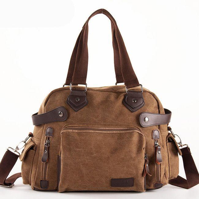Pánská taška se zipy ve vintage stylu - 3 barvy 1