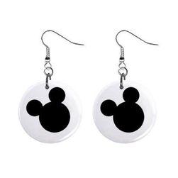Plackové náušnice - Mickey Mouse