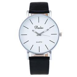 Dámské hodinky s přehledným ciferníkem - černá