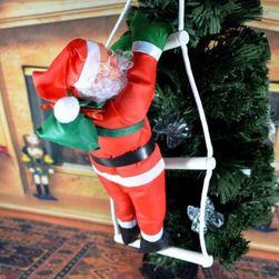 Vánoční dekorace - Santa na žebříku