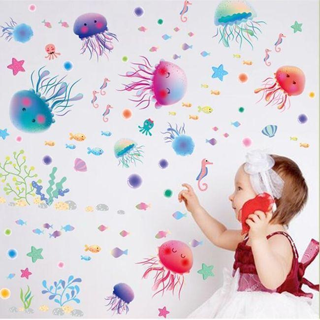 Samolepka s medúzami 1