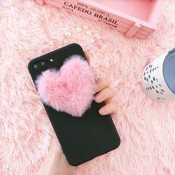 Kryt s chlupatým srdíčkem na iPhone nebo Samsung - 3 varianty