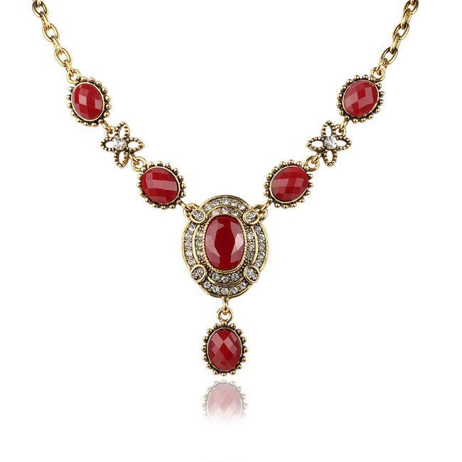Dámský náhrdelník s kamínky - 3 barvy 1