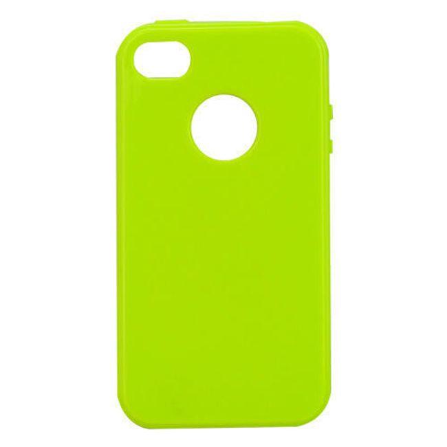 Průhledné ochranné pouzdro pro iPhone 4 a 4S - zelené 1