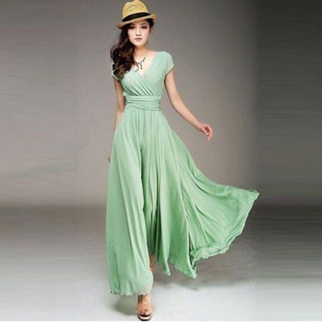Dámské šaty s V výstřihem - 4 barvy 1