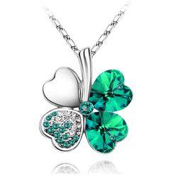 Dámský náhrdelník se čtyřlístkem - mnoho barevných kombinací