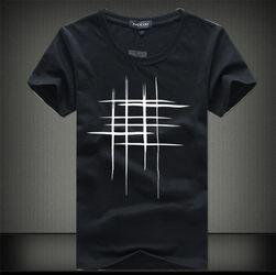Tričko pro pány se stylovým potiskem mříze - 5 barev