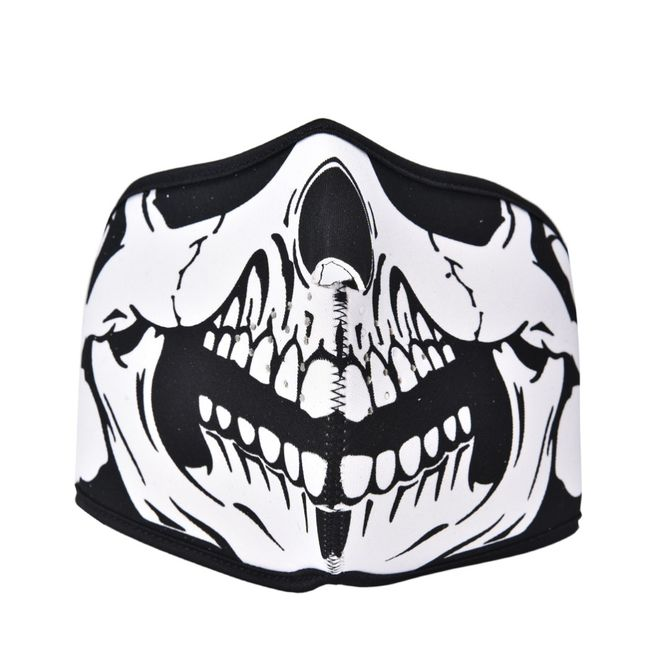 Maska na obličej s lebkou - 3 varianty 1