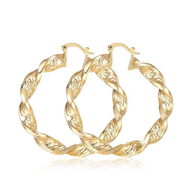 Dámské elegantní náušnice ve zlaté barvě 1