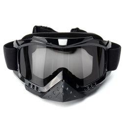 Černé brýle na motokros - 3 barvy skel