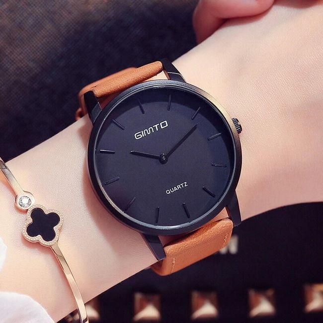 Dámské hodinky s tmavým ciferníkem - 3 varianty 1