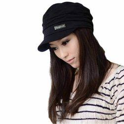 Dámská čapka s kšiltem - černá