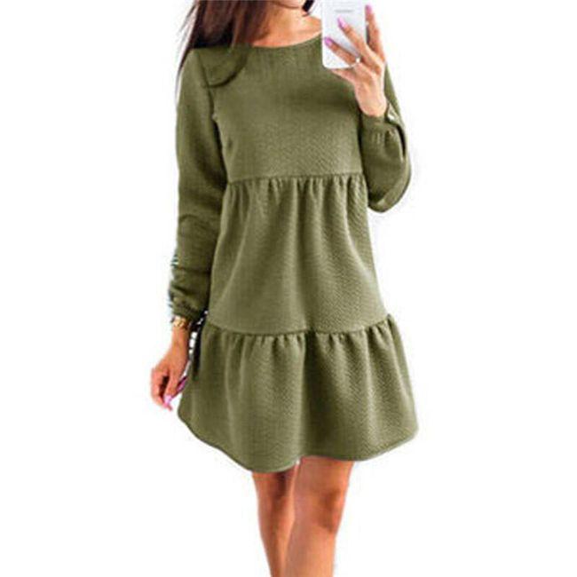Volné skládané šaty - 3 barvy 1